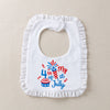 Happy 4th of July design Bib with Embroidery
