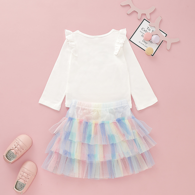 Baby / Toddler Unicorn Print Rainbow Tutu Dress