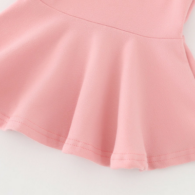 Girl Long sleeves Lotus leaf Playing skirt