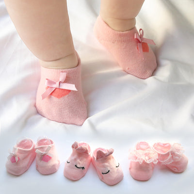 0-3 year old baby Lace socks
