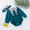 2-piece Baby / Toddler Solid Romper with Headband Set