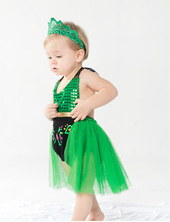 Newborns Baby Girls Clothes Mermaid Cosplay Outfit Tutu Fancy Party Body suit for Bebe Lace Straps Halter Romper with Headband
