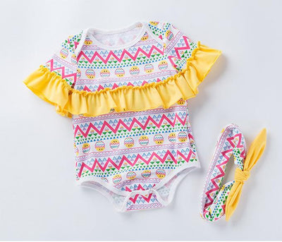 6 Colors ALVA'S DESIGN(ROMPER & HEADBAND)
