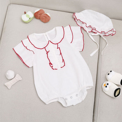 I Love Mama™   Baby Layered Ruffled Bodysuit and Hat