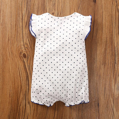 I Love Mama™    Baby / Toddler Ruffled Dotted Doll Collar Bodysuit