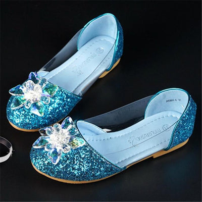 Pretty Flower and Sequin Decor Dance Shoes for Girl   4/18/19/10