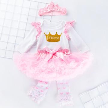 Baby Valentine's Day Tutu Set New Long Sleeve Wings Skirt Skirt