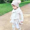 Autumn And Winter Children Knitted Double Ball Hat