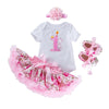 "My First Birthday Bella's Design (""1"" print)_Romper & Tutu Suit"