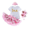 "My First Birthday Bella's Design (Gold ""One"" with small crown)_Romper & Tutu Suit"