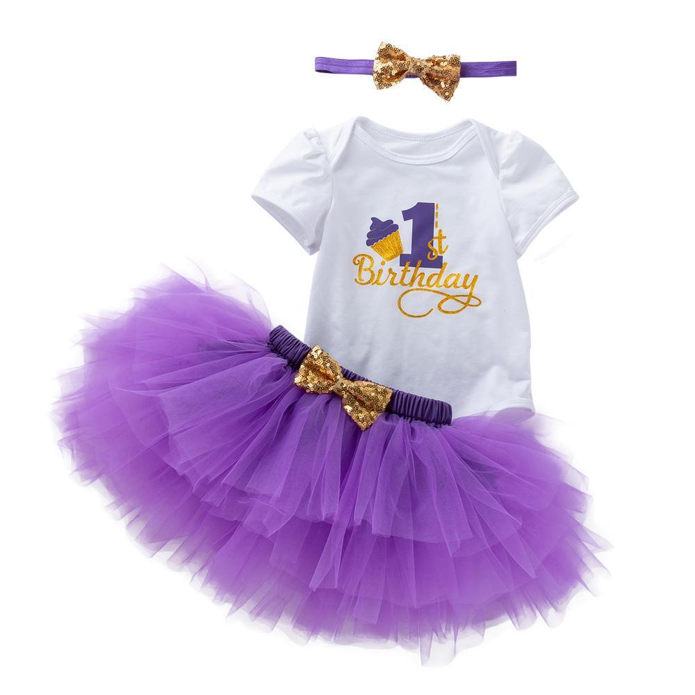 My First Birthday Amanda's Design (Purple)_Romper & Tutu Suit