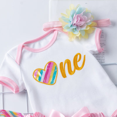 3-piece Birthday Design  With Embroidery