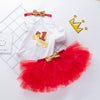 My First Birthday Amanda's Design (Red)_Romper & Tutu Suit