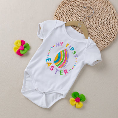 4-piece Embroidered Design 'My 1st Easter'