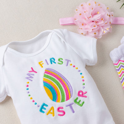 'My First Easter' 2021 Rainbow Design - Embroidered