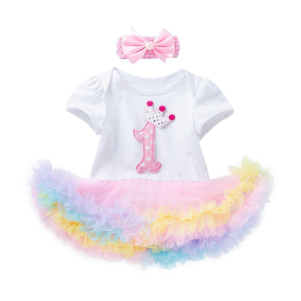 "My First Birthday Arlene's Design (Solid ""1"" Décor)_Romper Dress Suit"