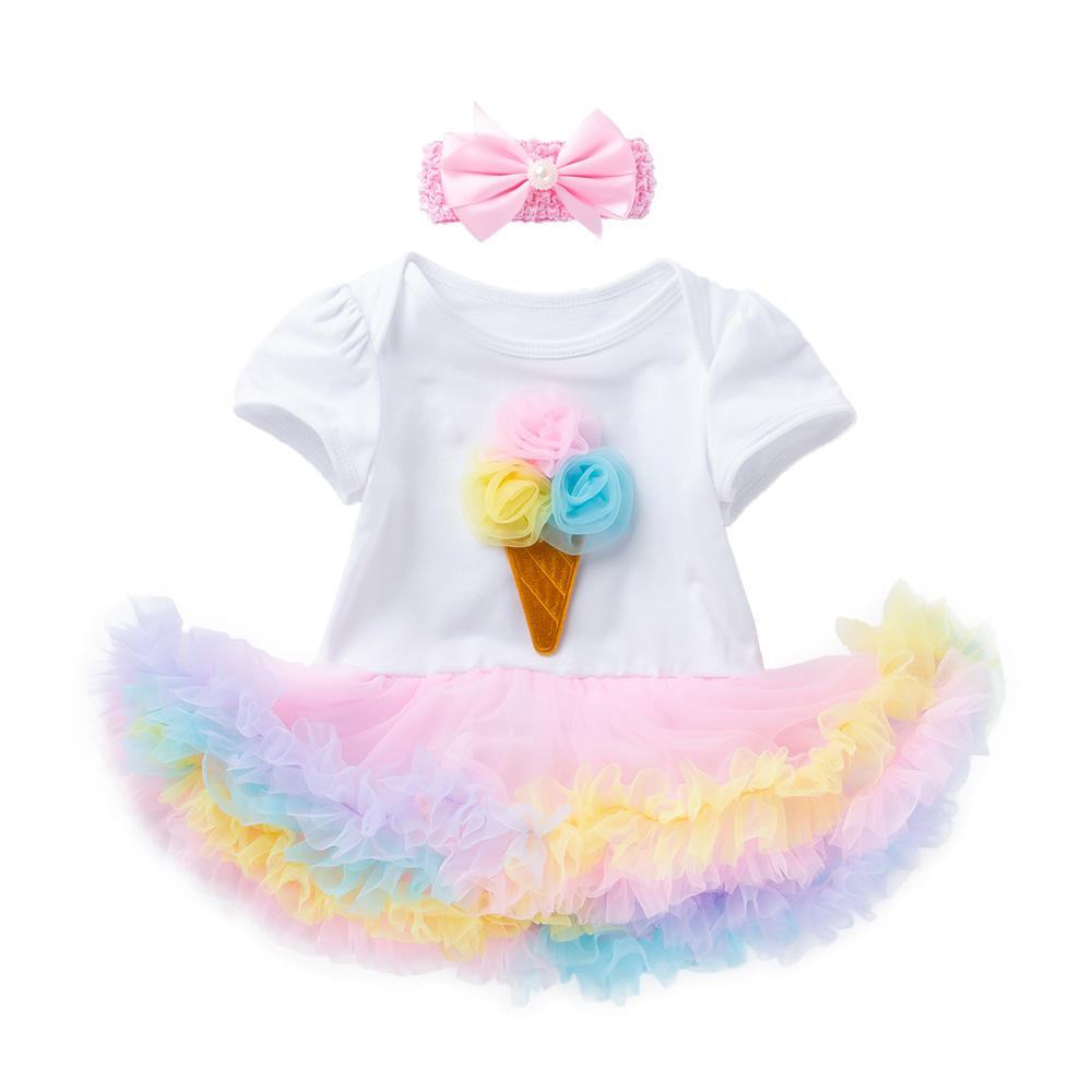 Arlene's Design (Solid Flower Icecream)_Romper Dress Suit
