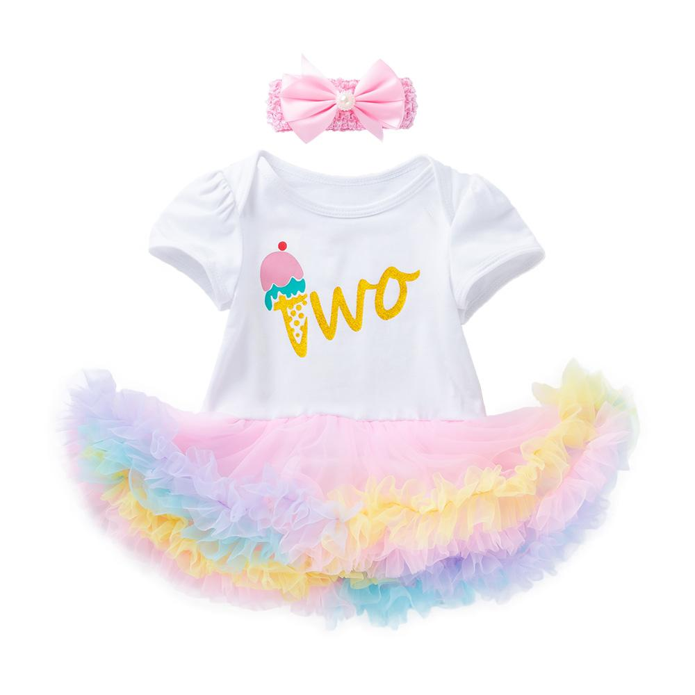"Arlene's Design (Solid Icecream ""Two"")_Romper Dress Suitt"