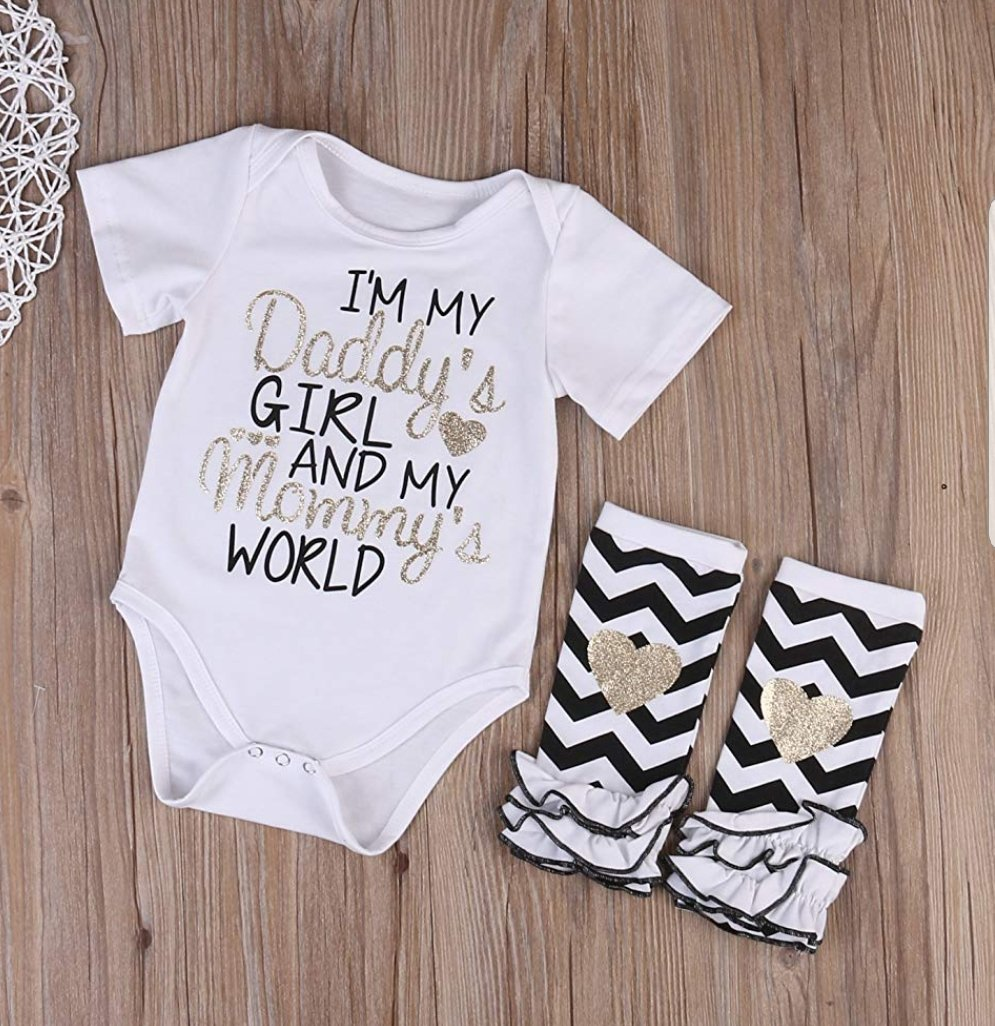 Daddy's Girl, Mommy's World Onesie Set