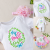 Embroidered Design  My 1st Easter  Girl-Boy-Baby Cotton Set