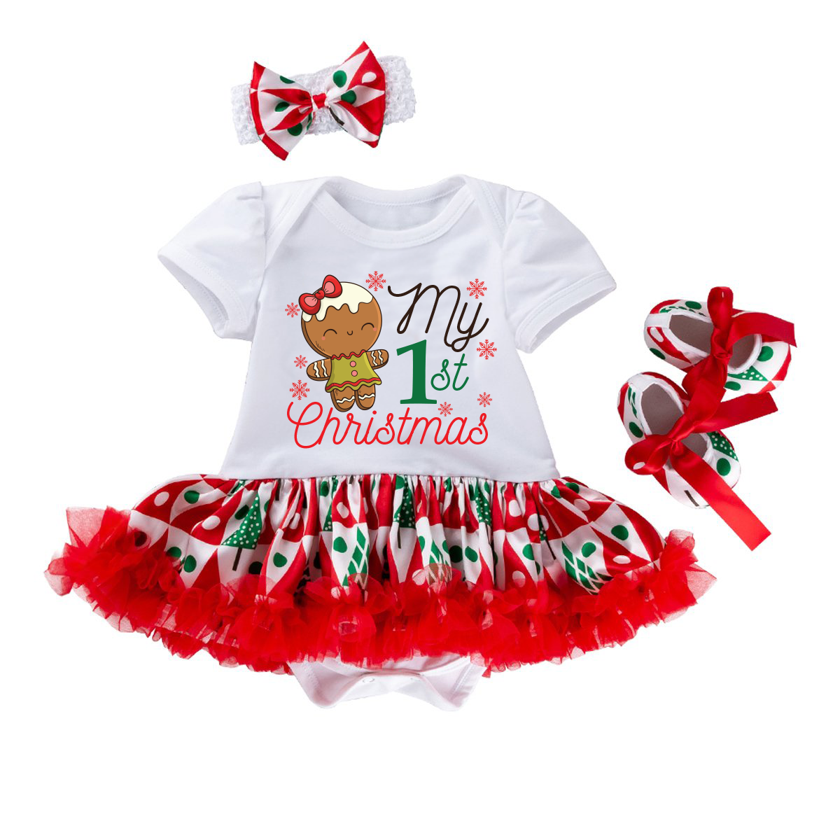 3- Piece My First Christmas Themed Outfit 2019 New