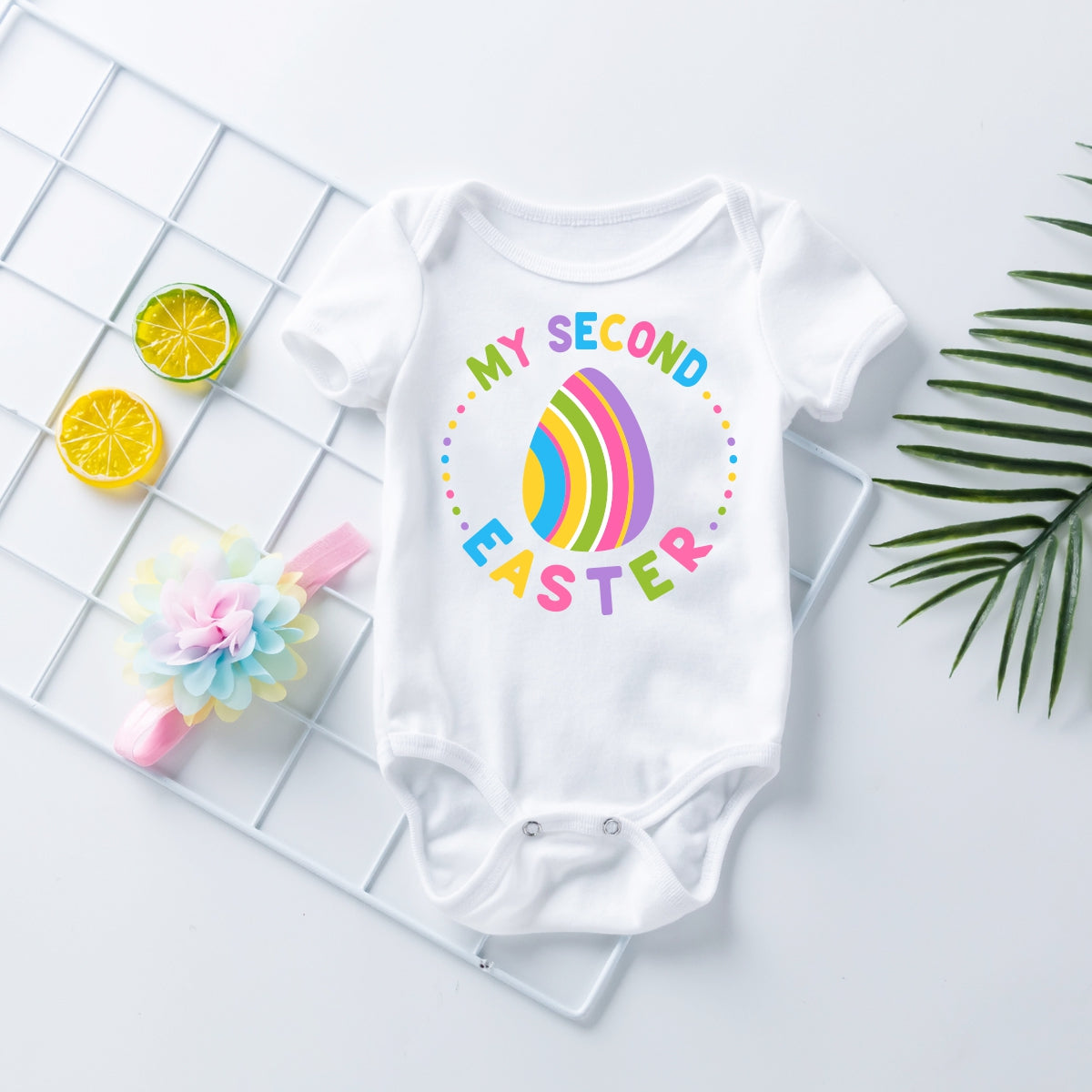 Embroidered Design 'My2nd Easter Onesie