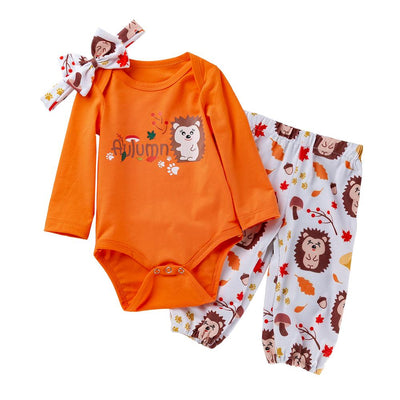 Baby Girl Solid Bodysuit and Pants Set