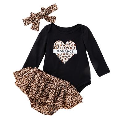 Baby Leopard Print Top and Skirt Set