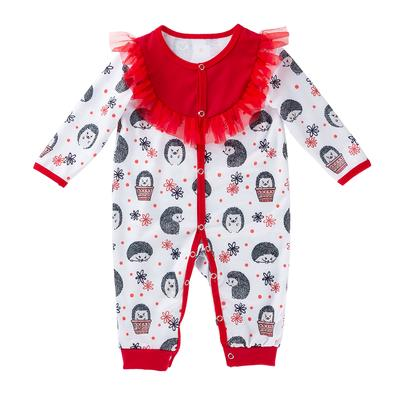 Baby Girl Cartoon Long-sleeve  Romper