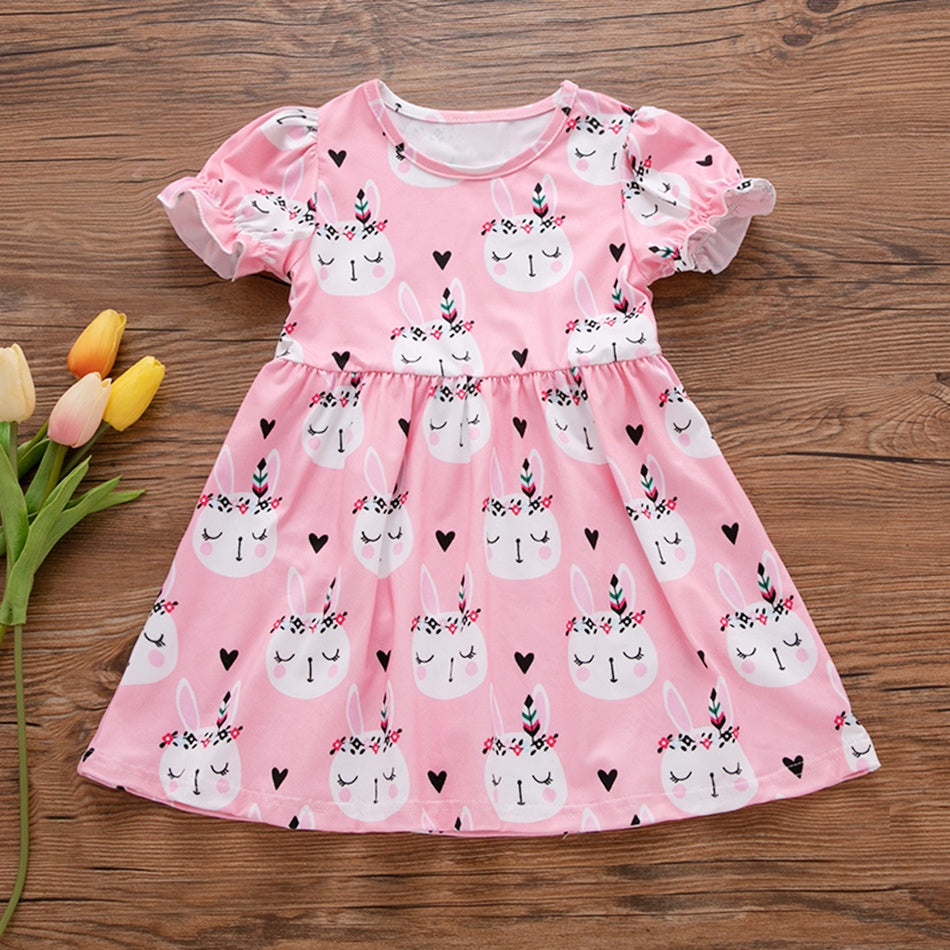 Easter Rabbit Dress in Pink