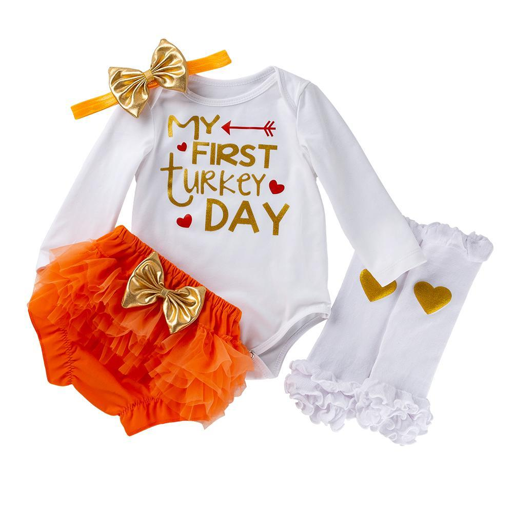 ADA'S DESIGN (MY 1ST TURKEY DAY )_ROMPER & SHORTS SUIT