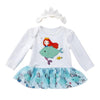 Baby Girl Mermaid Long-sleeve  Romper