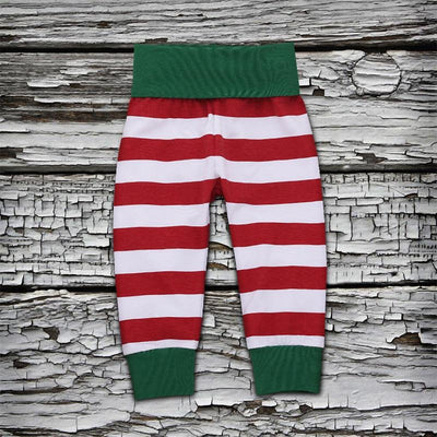 4-piece Baby Christmas Letter Print Bodysuit, Striped Pants and Hat with Headband Set