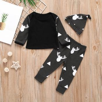 3-piece Baby / Toddler Deer Print Top, Pants and Hat