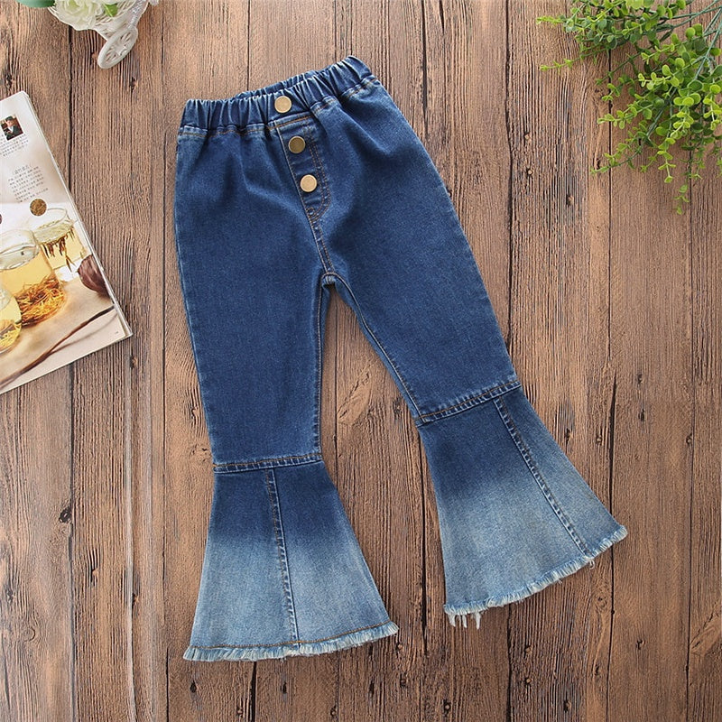 Baby / Toddler Stylish Colorblock Bellbottom Jeans