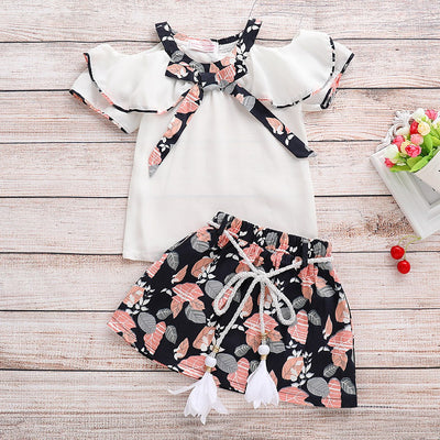 Baby / Toddler Girl Chiffon Top and Flower Skirt