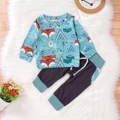 Baby / Toddler Trendy Fox Allover Top and Pants Set