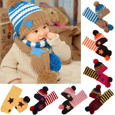 5-star New Winter Baby Hat & Scarf
