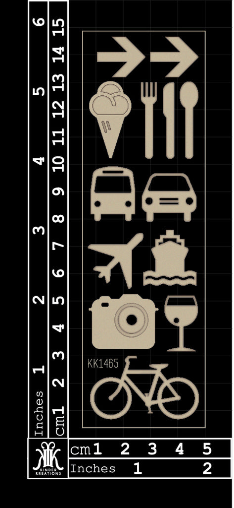 KK1465 Travel Icons