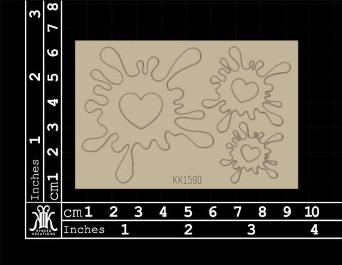 KK1590 Heart Splats