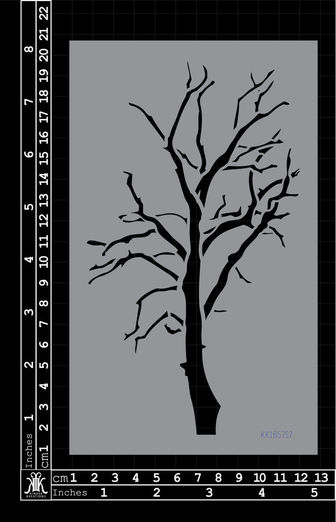 KK1657 Skeleton Tree Stencil