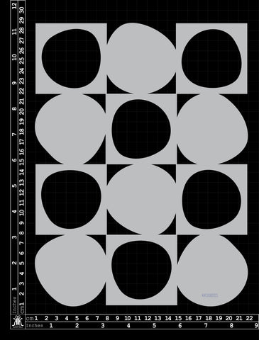 KK1660 Stencil Checkerboard