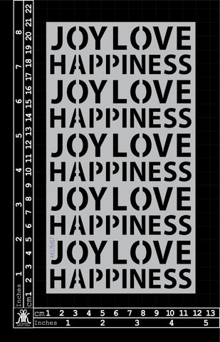 KK1764 Joy Love Happiness Stencil