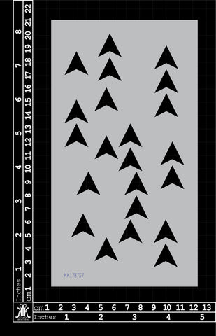 KK1787 Random Arrow Heads Stencil