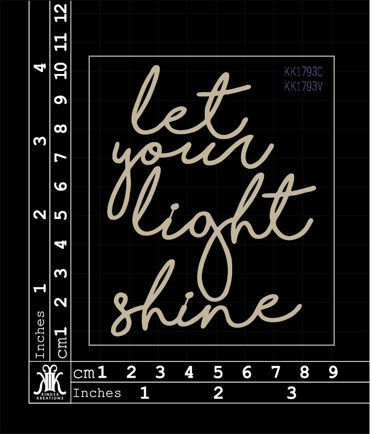 KK1793 Let your light shine