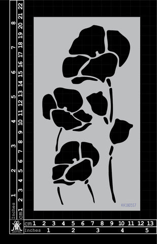 KK1805 Poppies Stencil