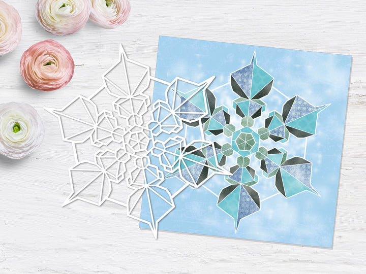 KK1850 Collaged Snow flake page kit