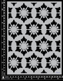 KK1853 Snow flake Stencil No.1