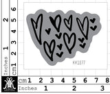 KK1877 - Lisa Oxley hand drawn hearts V1 Foam Stamp