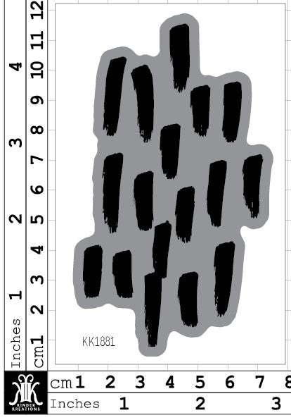 KK1881 - Lisa Oxley hand drawn dashes Foam Stamp